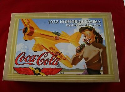 Coca Cola 1932 Northrop Gamma Die-Cast Metal Bank