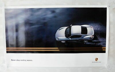 2005 Porsche Cayman S - NEW OEM Dealer Showroom Advertising Sales Poster - RARE