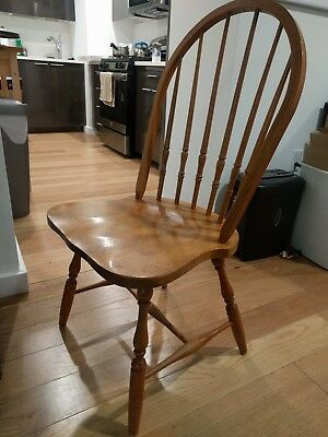 Wooden dining room chairs set of 5 matching all wood good quality sturdy kitchen