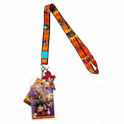 Dragon Ball Super Battle of Gods SSG Goku Lanyard ID Badge Holder & PVC Charm