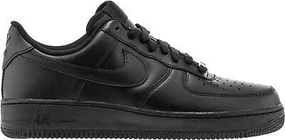 NIKE AIR FORCE 1 ONE LOW '07 All BLACK 315122-001 Mens 8-13