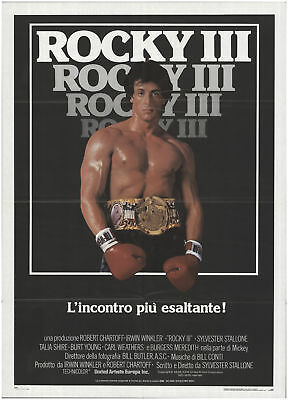 Rocky III 1982 39x55 Orig Movie Poster FFF-67739 Fine Sylvester Stallone