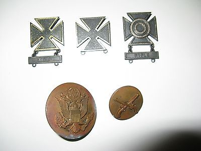 Hat Pins Pinbacks Sterling Marksmen Medals Brass Buttons With Threaded Backs