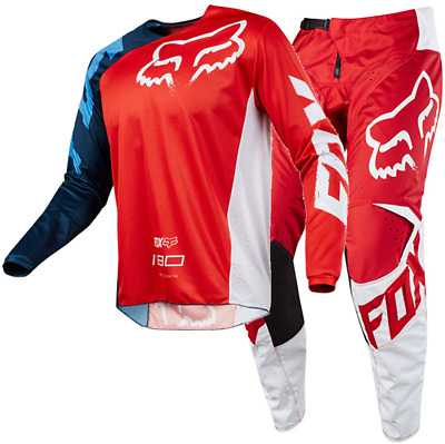 New FOX Racing MX 2018 180 RACE RED Mens Motocross Jersey & Pants Outfit MOTO