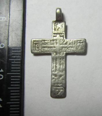 Metal detector finds.Silver cross  18th century