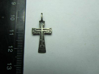 Metal detector finds.Silver cross  19th century