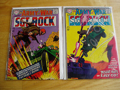 Our Army At War DC Comic Lot #181 & #182 Sgt Rock Easy Company Early Key Issues