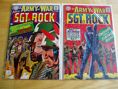 Our Army At War DC Comic Lot #183 & #184 Sgt Rock Easy Company Early Key Issues