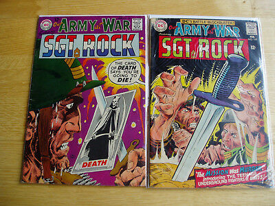 Our Army At War DC Comic Lot #188 & #189 Sgt Rock Easy Company Early Key Issues