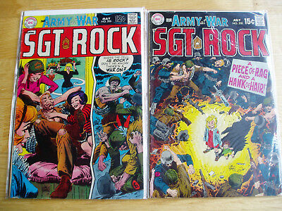 Our Army At War DC Comic Lot #206 & #208 Sgt Rock Easy Company Early Key Issues