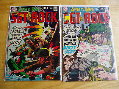 Our Army At War DC Comic Lot #210 & #213 Sgt Rock Easy Company Early Key Issues