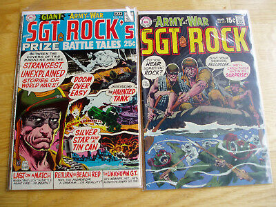 Our Army At War DC Comic Lot #216 & #217 Sgt Rock Easy Company Early Key Issues