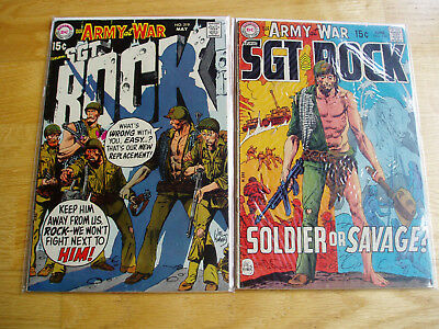 Our Army At War DC Comic Lot #219 & #220 Sgt Rock Easy Company Early Key Issues