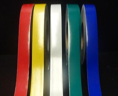 """""""3M"""" CLASS 2 REFLECTIVE TAPE RED x 25MM x 2 METRE NEW _ 1 COLOUR"""
