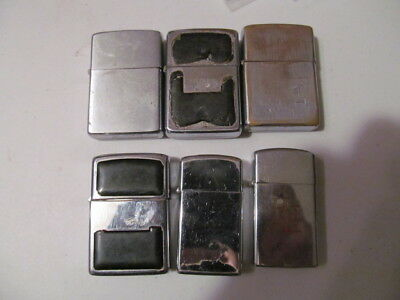 Vintage Zippo Lighters Lot Of 6