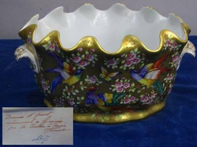 Le Tallec Sèvres-Style Painted Porcelain Monteith Verriere Center Bowl 1982