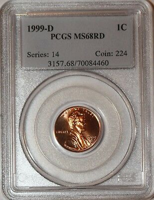 1999 D Ms68 Rd Lincoln Memorial Cent Pcgs Certified