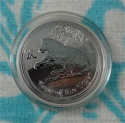 2010 Australia Lunar Year of The Tiger 1/2 oz 999 Fine Silver Coin * Ebay Bux *