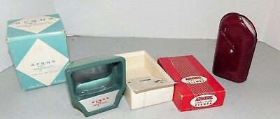 Argus & Admiral vintage Slide Light Viewers w/boxes