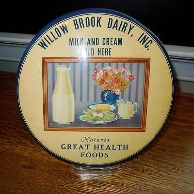 Willow Brook Dairy, Inc. Advertising Celluloid Dairy Disk
