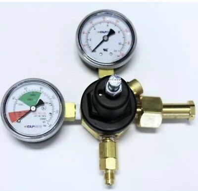 Taprite CO2 Soda Primary Regulator Dual Gauge 0 to 120PSI 160# 2000 Pressure NEW