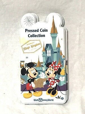 Disney World Passport Four Parks Pressed Coin Wallet Penny Holder Book