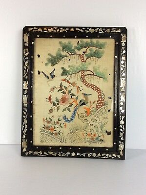Chinese antique textile hand made with MOP