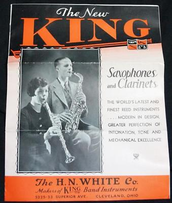 King Saxophones & Clarinets Musical Instruments Sales Brochure Guide 1935