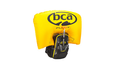 BCA FLOAT MTNPRO VEST BLACK/ORANGE M/L AVALANCHE AIRBAG with CYLINDER