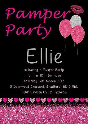 MAKEUP PARTY INVITATIONS Pamper Birthday Invite Beauty Party