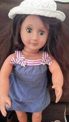 """Our Generation by Battat Doll 18"""" brunette with accessories"""