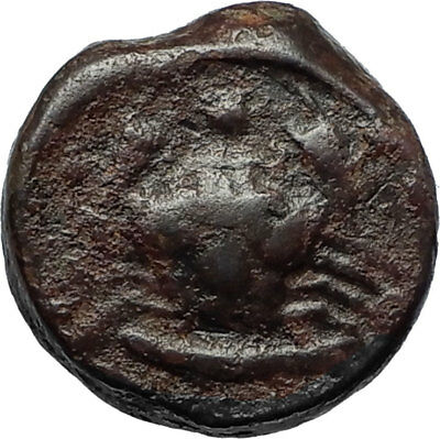 AKRAGAS in SICILY Authentic Ancient 425BC Greek Coin EAGLE FISH & CRAB i67092