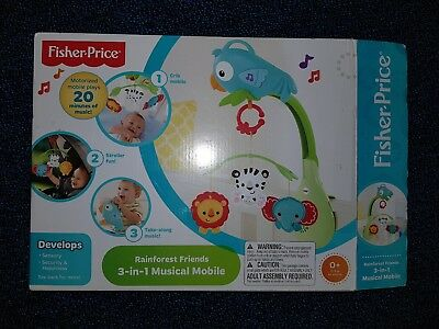 Fisher & Price Rainforest Friends 2 in 1 Cot Mobile