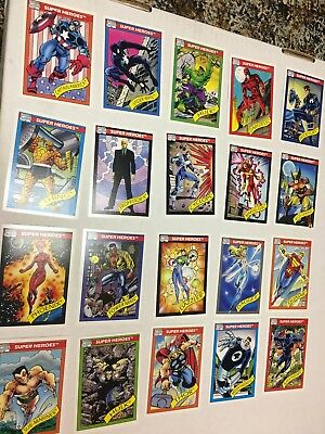 ***COMPLETE 1990 MARVEL Super Heroes Trading Cards Set #1-162  in NM Condition**
