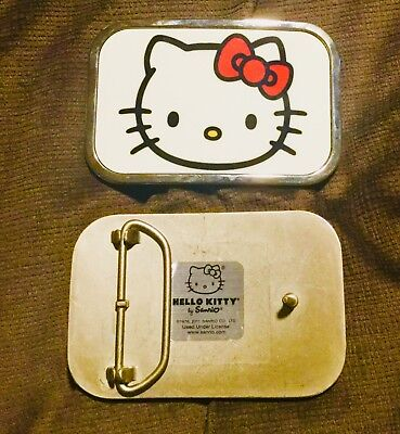 😊NWOT😊hello kitty animated character white faceplate belt buckle*unisex*