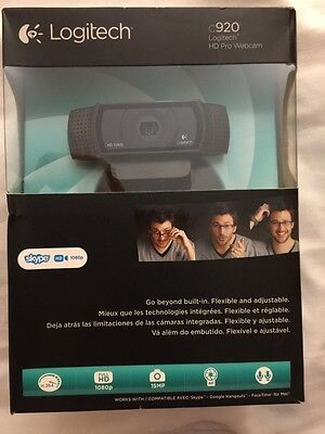 Logitech HD Pro C920 Web Cam / Webcam / camera / video 1080p, 15mp