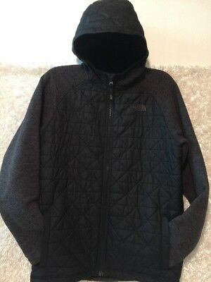 The North Face Boys XL 18-20 Hooded Jacket Black & Gray Full Zip Quilted