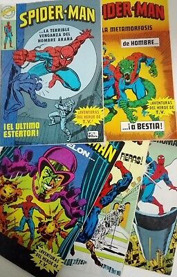 SPIDERMAN Comics BRUGUERA LOTE Nºs 12 al 16