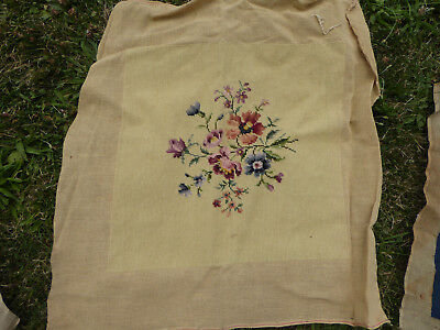 VINTAGE / ANTIQUE NEEDLEPOINT TAPESTRY for CHAIR or DECORATIVE - tap7