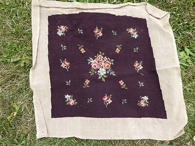 VINTAGE / ANTIQUE NEEDLEPOINT TAPESTRY for CHAIR or DECORATIVE - tap8
