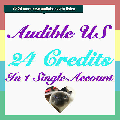 Special DEAL audible US 24 credit single account Fast Delivery