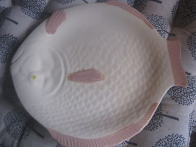 Vintage Shorter and Son England - Fish Plate - Luncheon - Pink and Cream Colour