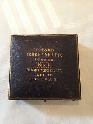 Antique Photographic Ilford Isochromatic Screen