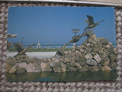 Abu Dhabi Corniche View From Postcard Middle East  1980's Unused And Unstamped