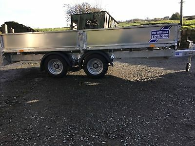 12ft flat bed farm trailer