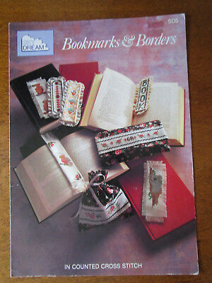 Bookmarks & Borders Cross Stitch Patterns Only Of6 Bookmarks & 2 Borders