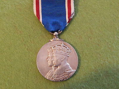 Corrination Medal - Silver - Queens Elizabeth - Crowned 12Th May 1937 Medal