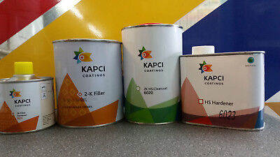 KAPCI 6020 2k High Solids Lacquer Kit + KAPCI Primer kit (choose colour)