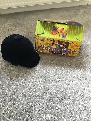 Kids own horse riding hat navy