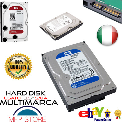DISCO HDD - HARD DISK 3,5 SATA Memoria 160GB, 320GB, 500GB,1TB, INTERNO PC USATO